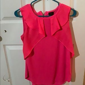 Hot Pink Ruffle Blouse